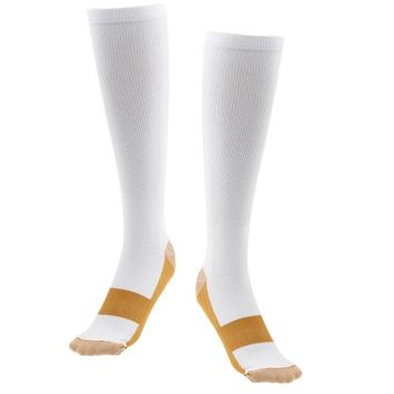 Tonewear Comfortable Copper Anti-Fatigue Compression Support Socks For Men & Women