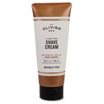 Olivina Men Bourbon Cedar Flash Foam Shave Cream - 6.5 oz