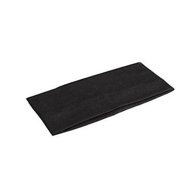 2Pcs Elastic Headband Sports Yoga Accessory Dance Biker Wide Stretch Ribbon Cotton Hairband Black