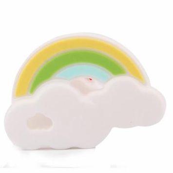 2018 Kuke Baby Rainbow Silicone Teether Infant Teething Chew Toys Gum Massagers