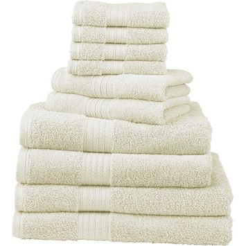 Divatex 10-Piece Deluxe Towel Set