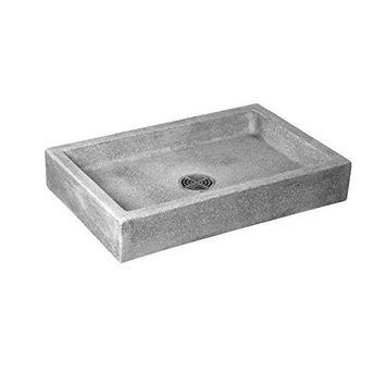Crane SB3624501 White Marble/White Cement Commercial Plain Curbs Mop Service Basin SB3624