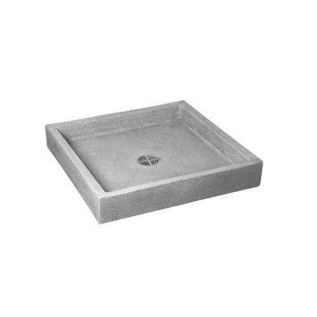 Crane SB3232501 White Marble/White Cement Commercial Plain Curbs Mop Service Basin SB3232