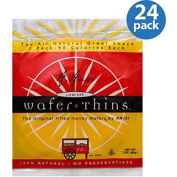 Anisi Wafer Thins, 3 oz, (Pack of 24)