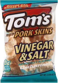 tom's® fried pork skins vinegar & salt