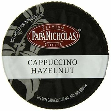PapaNicholas Coffee Single Serve Coffee Cups Fits Keurig K Cup Brewers, Cappuccino Hazelnut, 12 Count
