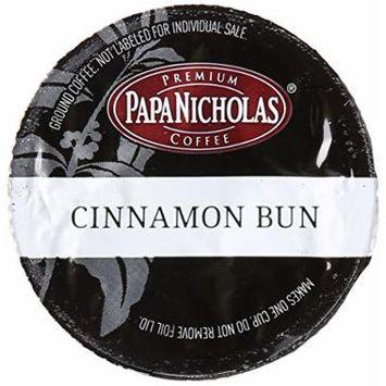 PapaNicholas Coffee Single Serve Coffee Cups Fits Keurig K Cup Brewers, Cinnamon Bun, 12 Count