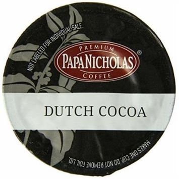 PapaNicholas Coffee Single Serve Coffee Cups Fits Keurig K Cup Brewers, Dutch Cocoa, 12 Count