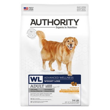 Authority® Advanced Wellness Large Breed Weight Loss Adult Dog Food - Chicken & Brown Rice