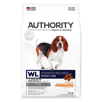 Authority® Advanced Wellness Weight Loss Adult Dog Food - Chicken & Brown Rice