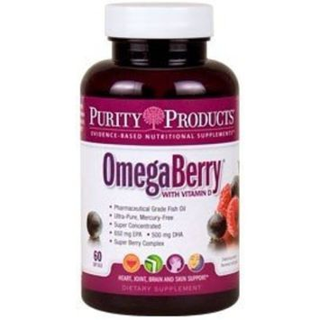 Omega Berry Fish Oil by Purity Products - 60 Soft Gels