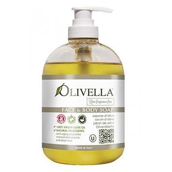 Olivella Face & Body Liquid Soap Pump - RAW Fragrance Free