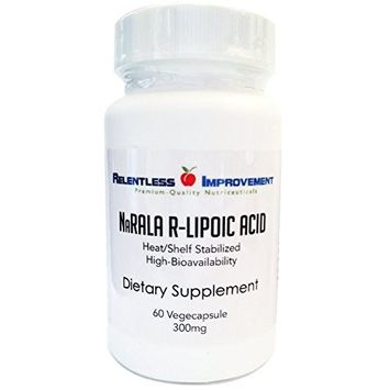 Relentless Improvement NaRALA R-Alpha-Lipoic Acid | 300mg ACTIVE From 375mg TOTAL FILL