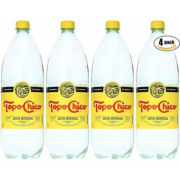 Topo Chico Mineral Water, 50.7 Oz Plastic Bottle (Pack of 4, Total of 202.8 Oz)