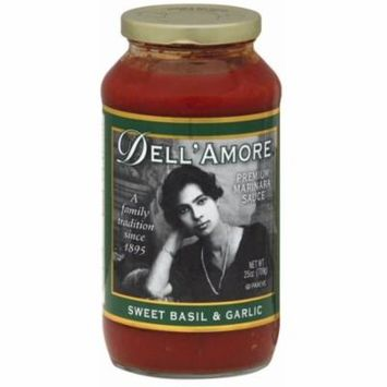6 Pack - Dell A'more Sweet Basil and Garlic Pasta Sauce 25 oz