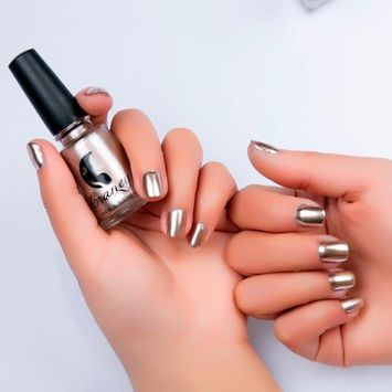 Sympath Mirror Nail Polish Plating Silver Paste Metal Color Stainless Steel (G
