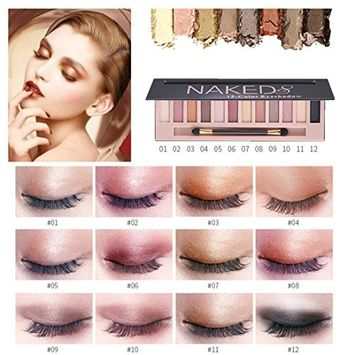 Eyeshadow Palette Makeup Matte Shimmer 12 Colors High Pigmented Cosmetic Eye Shadows (B - 12 Color)