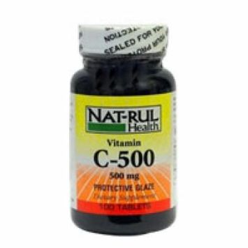 Vitamin C 500Mg Tablets With Protective Glaze By Nat-Rul - 100 Ea