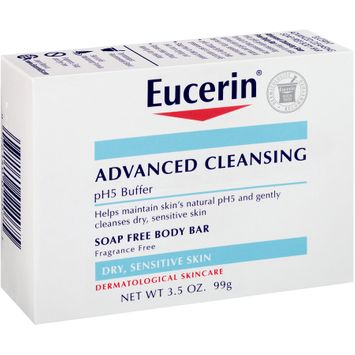 Eucerin® Advanced Cleansing Soap Free Body Bar