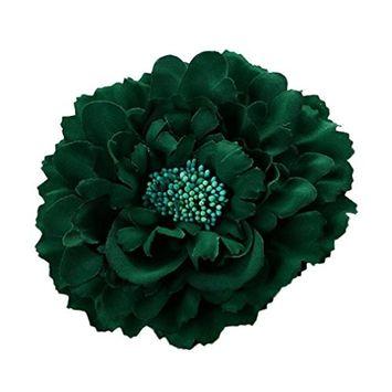 Voberry Women Girl Peony Flowers Hair Clips Wedding Festival Beach Headwear Hairpin Brooch