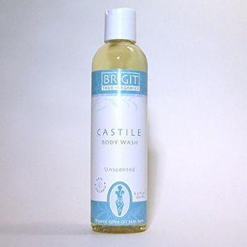NOW: NOP certified, Brigit True Organics- UNSCENTED Castile Body Wash, 8.5 fl. oz. (85% ORGANIC)