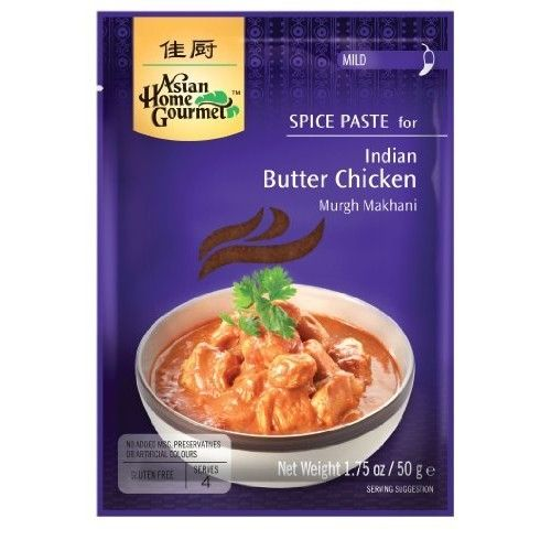 Asian Home Gourmet, Indian Spice Butter Chicken Paste, 1.75-Ounce Pouch (Pack of 12)