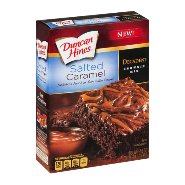 Duncan Hines Decadent Brownie Mix Salted Caramel