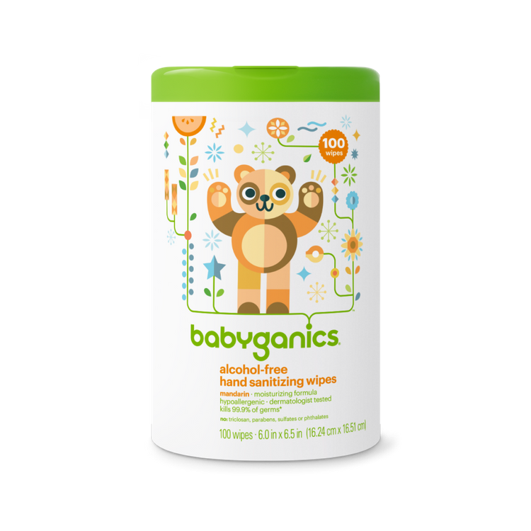 babyganics alcohol-free hand sanitizing wipes mandarin