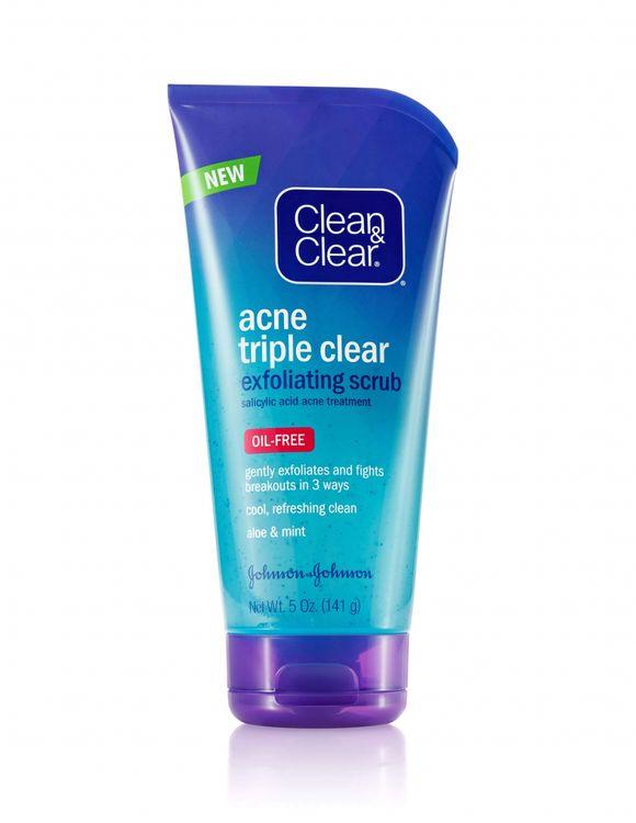 Clean & Clear® Acne Triple Clear Exfoliating Scrub