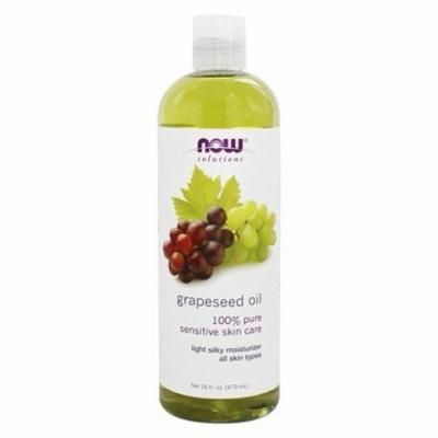 100% Pure Sensitive Skin Care Grapeseed Oil - 16 fl. oz. by NOW Foods (pack of 3)