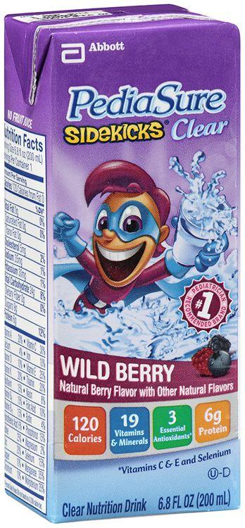 PediaSure Sidekicks® Clear Nutrition Drink Wild Berry