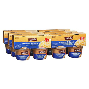 Back to Nature Macaroni & Cheese Microwavable Dinner 4 Cups 6 Pack