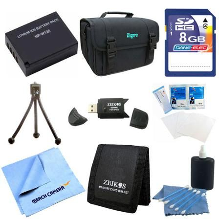 Special Fully Loaded Value 8GB Card and NP-W126 Battery Kit for Fujifilm HS30