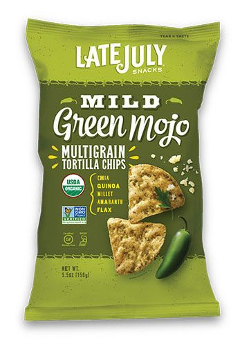 Late July® Snacks Multigrain Tortilla Chips Mild Green Mojo