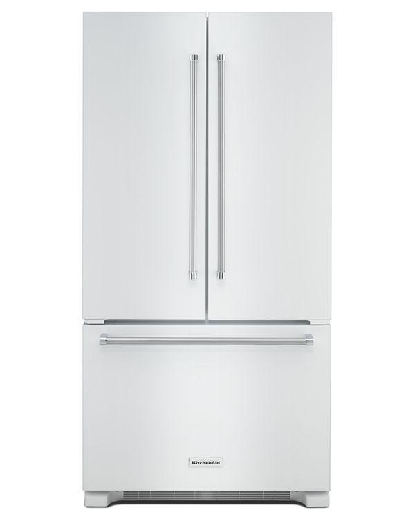 KitchenAid KRFC302EWH 22.0 Cu. Ft. White Counter Depth French Door Refrigerator