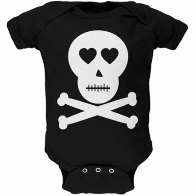 Skull And Crossbones Lovers Black Baby One Piece