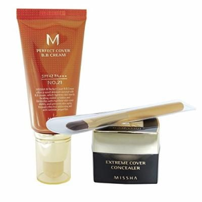 Missha M Perfect Cover Bb Cream + Extreme Cover Concealer with Free Gift! (#21 sets)