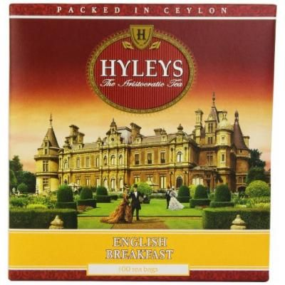 Hyleys Tea English Breakfast Black Tea 100 Count Bags Pack Of 6