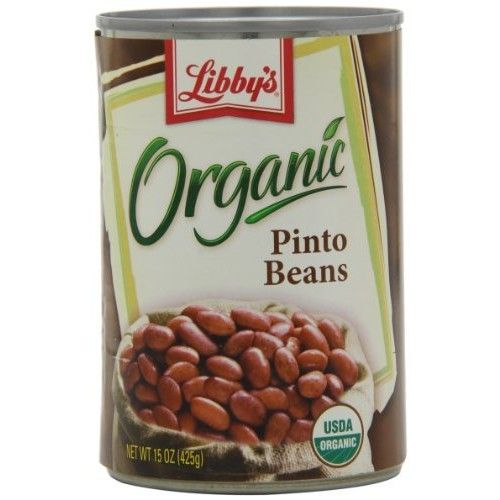 Libby's Organic Pinto Beans, 15-Ounces Cans (Pack of 12)
