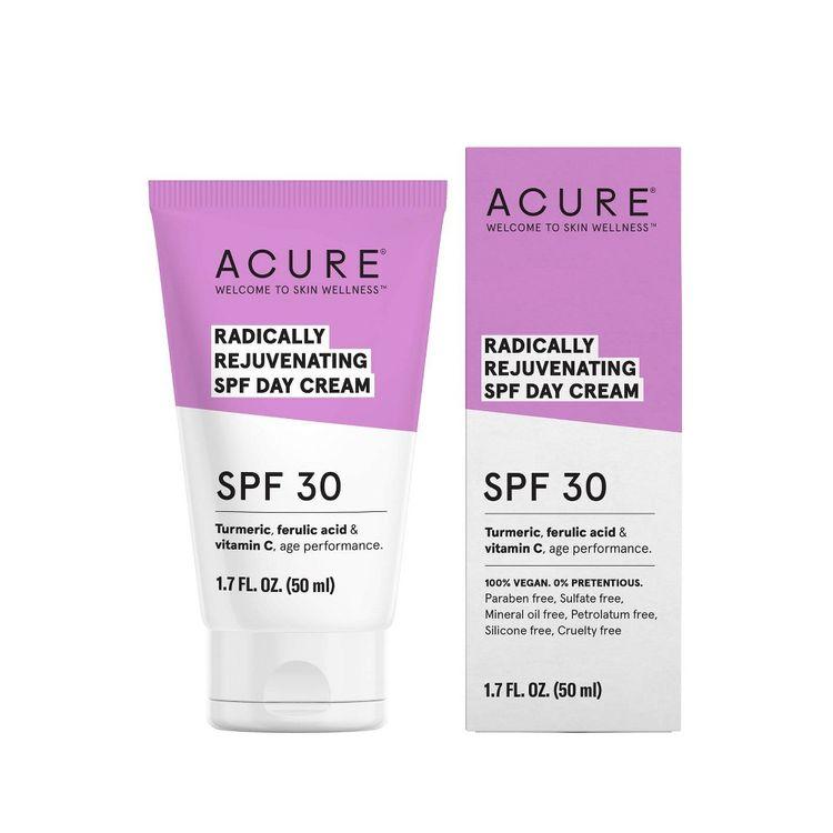 Acure Radically Rejuvenating Day Cream Facial Moisturizers - Spf 30 - 1.7 fl oz