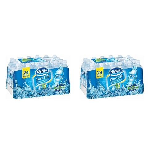 "Nestle Waters North America 101264 ""Nestle Pure Life"" Purified Water 16.9 Oz (Pack of 24) (.2 Boxes. (48 Bottles))"