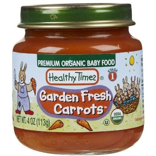 Healthy Times Organic Baby Food, Garden Fresh Carrots, 4-Ounce Jars (Pack of 12)
