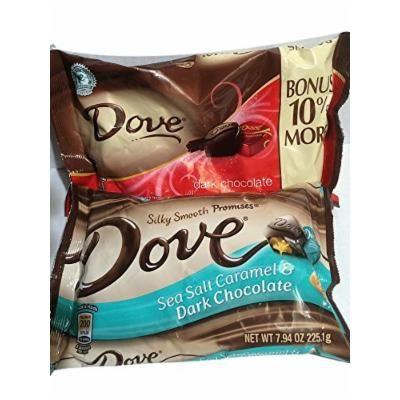 Dove Dark Silky Dark Chocolate Promises and Sea Salt and Caramel