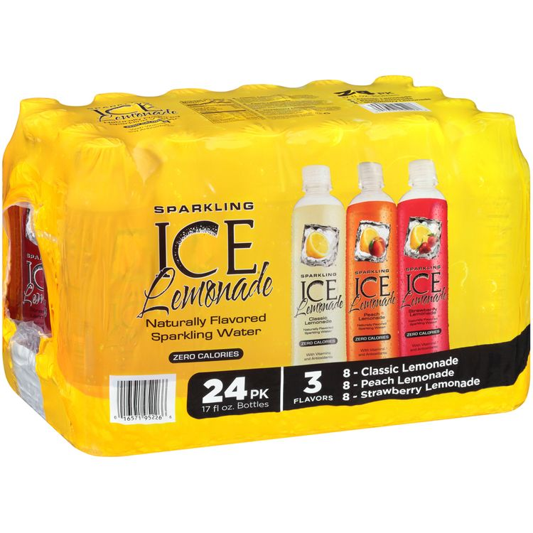 sparkling ice® classic lemonade/peach lemonade/strawberry lemonade sparkling water 1 plastic