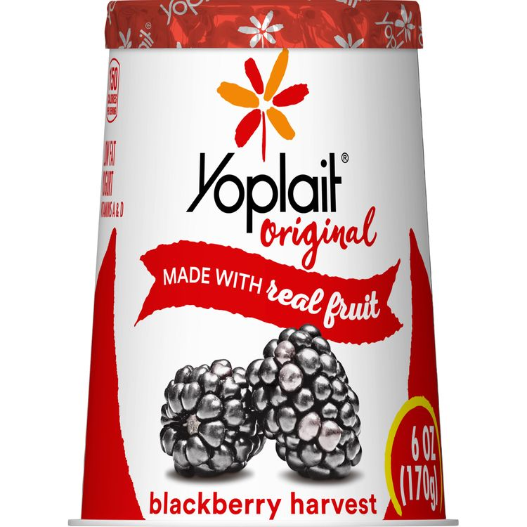 Yoplait Original Yogurt, Low Fat Yogurt, Blackberry Harvest, 6.0 oz
