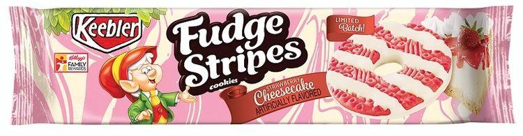 Keebler Fudge Stripes Strawberry Cheesecake Cookies