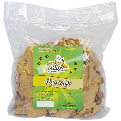 Mr Bites 4-Pound Rawhide Chips for Dogs, Chicken Flavor