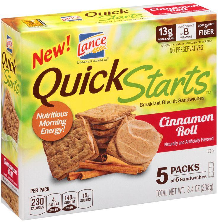 Lance® Quick Starts™ Cinnamon Roll Breakfast Biscuit Sandwiches
