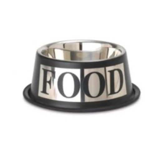 PetRageous Stainless Steel Pet Bowls Antigua Food inverted Bowl, 1-Count