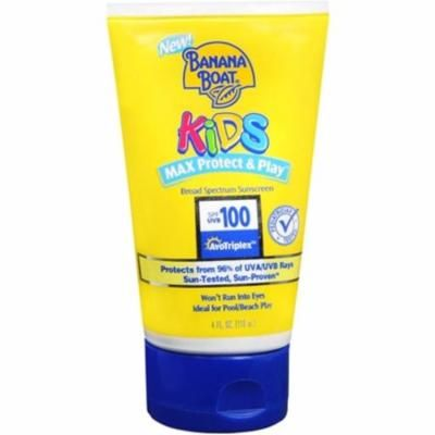 Banana Boat Kids Max Protect & Play Broad Spectrum Sunscreen SPF 100 4 oz (Pack of 6)